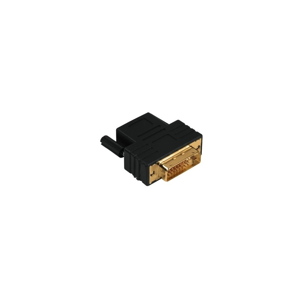 Hama Compact Adapter DVI-D Plug - HDMI Socket DVI-D HDMI female Negro