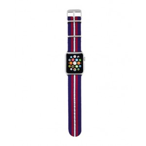 Trust Urban - Correa de nylon para Apple Watch, 38 mm, color azul con rayas
