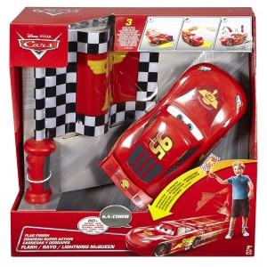 Disney Pixar Cars Rayo Mcqueen Carreras y derrapes, Color Rojo Negro Mattel Spain DPL07