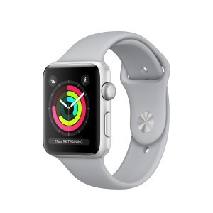 Apple Watch Series 3 de 42 mm con caja de aluminio en plata y correa deportiva gris luminoso Reacondicionado