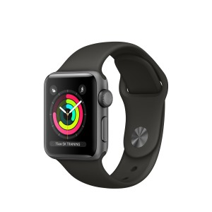 Apple Watch Series 3 de 38 mm con caja de aluminio en gris y correa deportiva gris Reacondicionado
