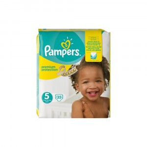 Pampers Premium Protection, Essential Pack, Soft Comfort, talla 5, 35 pañales, 11-16 kg