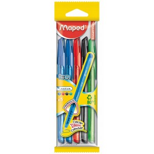 Maped 224405 Pack Bolígrafos Multicolor