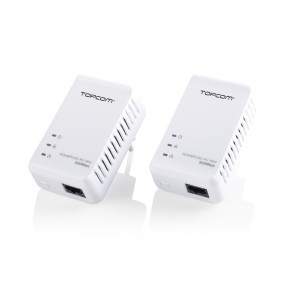Topcom NS-6700 - Kit Ethernet Power LAN Mini Blanco