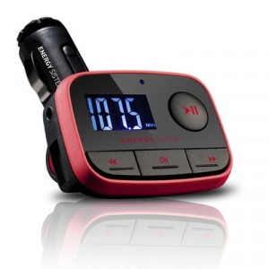 Energy Sistem Car Mp3 F2 Racing Red - Reproductor MP3 para coche con transmisor FM
