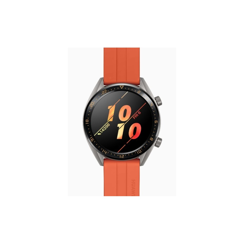 Huawei Watch GT Active - Reloj Inteligente, Naranja, 46 mm, Smartwatch