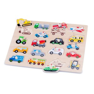 New Classic Toy 10536 Madera Puzzle Vehículos