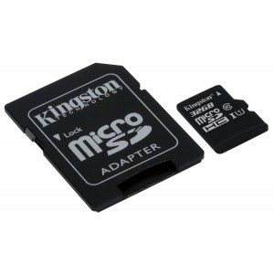 Kingston SDCS 32GB - MicroSD Canvas Select UHS-I Clase 10 hasta 80 MB s Lectura (con Adaptador SD)