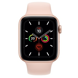 Apple Watch Series 5 GPS 44mm Aluminio Dorado con Correa Deportiva Rosa