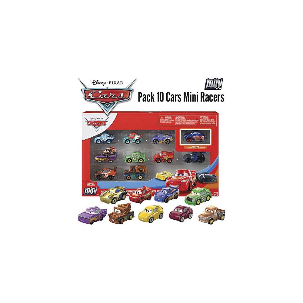 Disney Cars GKG08 Pack de 10 Mini...
