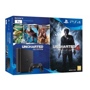 SONY PLAY STATION 4 1TB SLIM + JUEGOS UNCHARTED