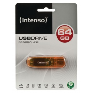 INTENSO USB DRIVE 2.0 64GB RAINBOW LINE