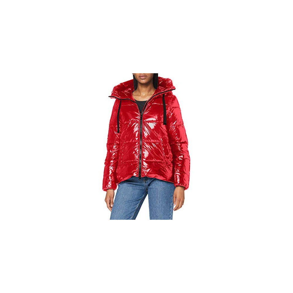 Geox W Emalise Parka, RIBBON RED, 40...