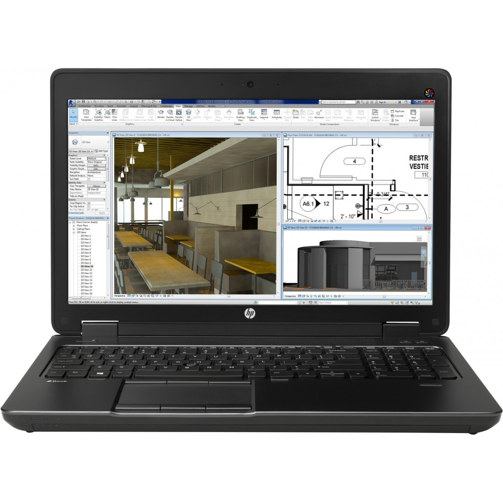 HP ZBook 15 G2 i7-4710MQ 8GB 1TB Quadro K1100M 15.6 FHD Reacondicionado Golpe Visagra