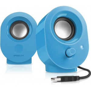 Speedlink SNAPPY Stereo Speakers, Azul
