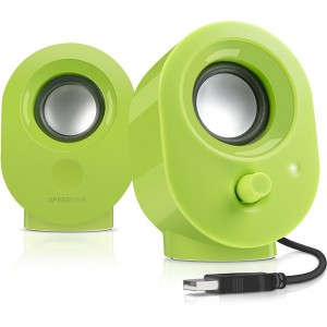 Speedlink SNAPPY Stereo Speakers, Verde
