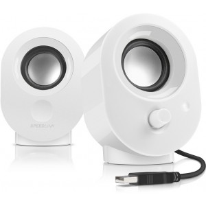Speedlink SNAPPY Stereo Speakers, Blanco