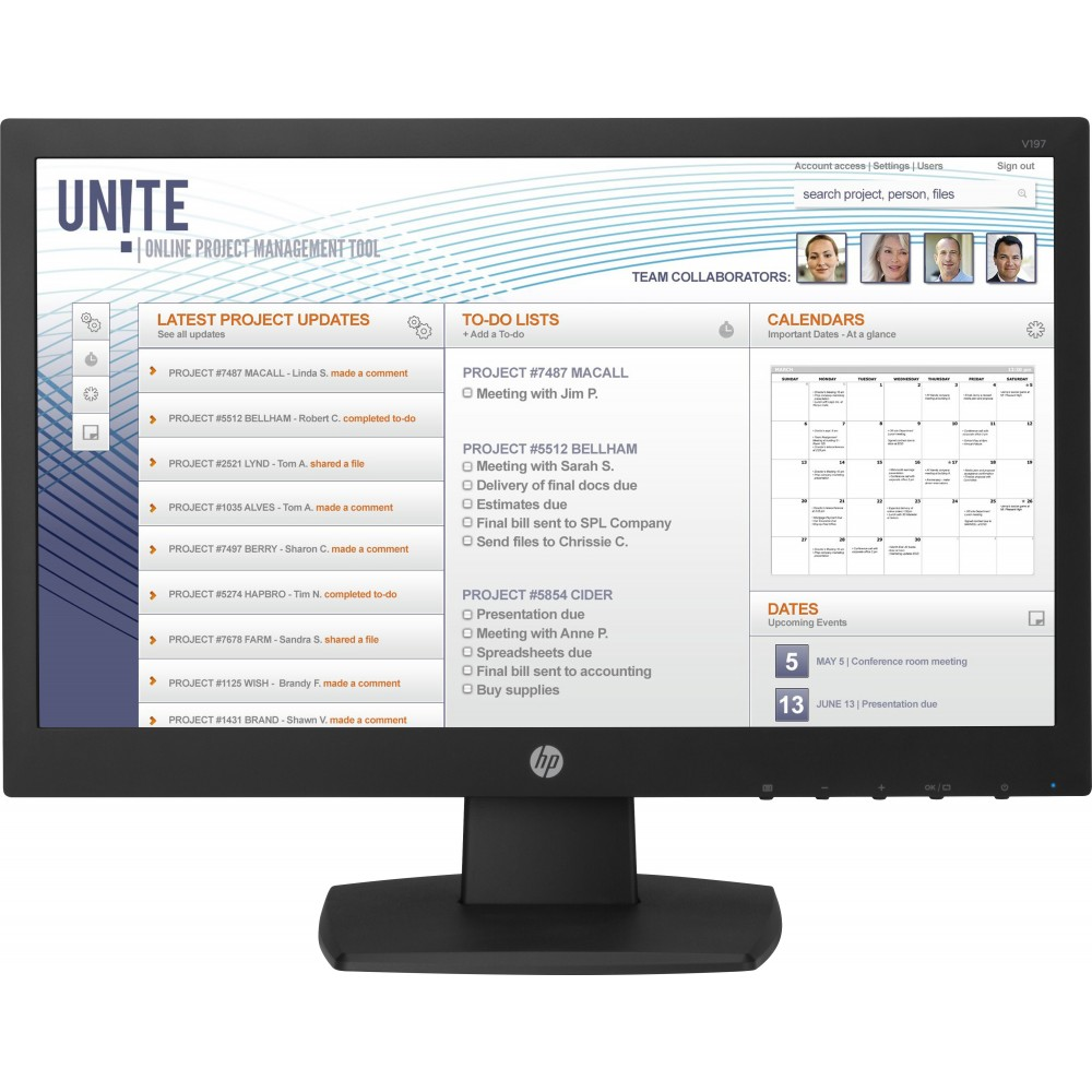Monitor HP V197 18.5 HD 5ms Reacondicionado