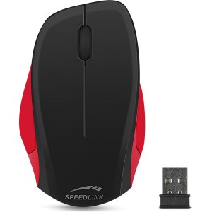 SPEEDLINK LEDGY Mouse - wireless, black-red